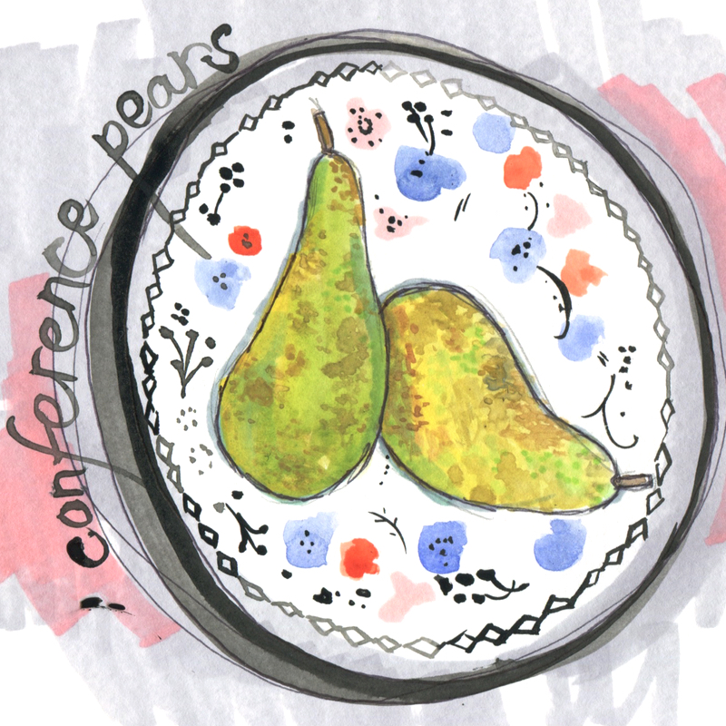 seasonal 1 - conference pears with WORDS